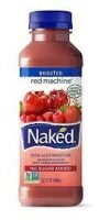 A picture of a drink called naked. It is a smoothie type drink we place in our vending machines.