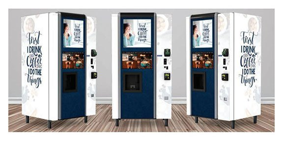 This is an example of what a nicely wrapped vending machine looks like. The vending machine company you hire should be able to do work like this.