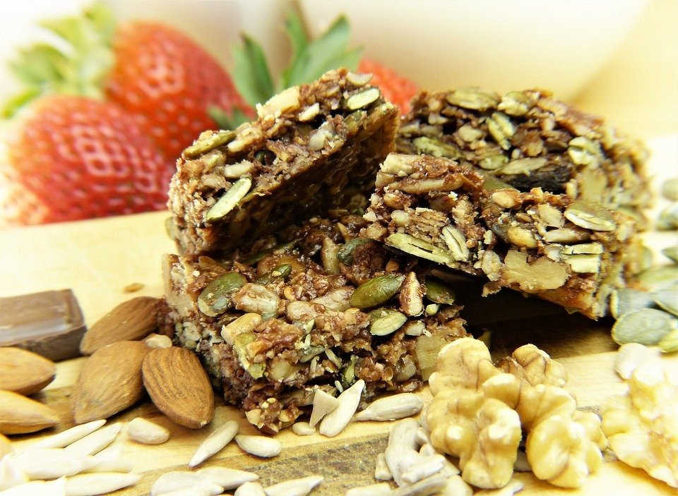 A picture of granola bars. Granola bars are included in this article which is about 11 guilt-free snacks to enjoy