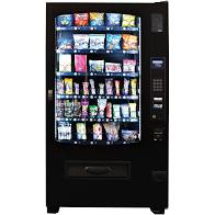 A picture of a snack vending machine. The only products that these vending machines take are snacks not drinks. These are good for locations where you already have a soda vending machine. As a business we place these alot.