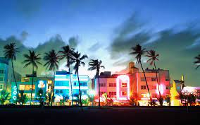 What fashion trend did Miami Vice help make popular? Here is a picture of ocean drive. Where alot of Miami Vice the film was shot.. Miami vice set the city on fire, Crockett the main actor. Made this fashion trend. Look at the lights on ocean drive, a tribute to Miami Vice.