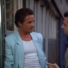 What fashion trend did Miami Vice Help Make Popular? Here is a picture of the Blazer style Miami Vice made popular. Old Crockett the main character. This is the look this amazing television series brought out. Made a statement in fashion